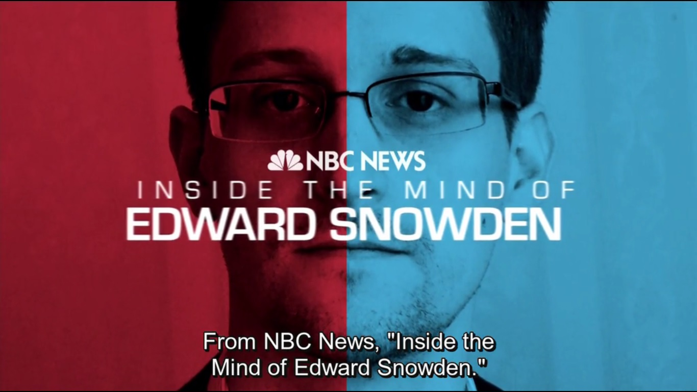 NSBC INSIDE THE MIND OF EDWARD SNOWDEN - 2014 - REMOTE NEURAL MONITORING?
