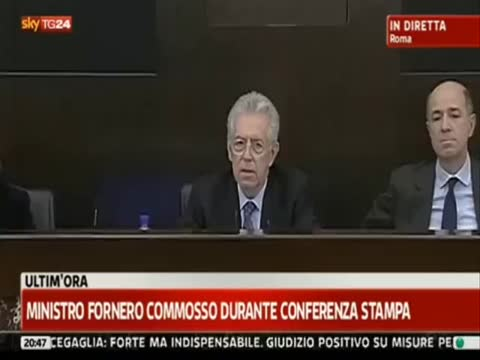 DEINDICIZZAZIONE DELLE PENSIONI: IL CUORE DI GHIACCIO DELLA FORNERO PER LA PRIMA VOLTA IN VITA SUA SI SCALDO' PER 30 SECONDI. 04/12/2011